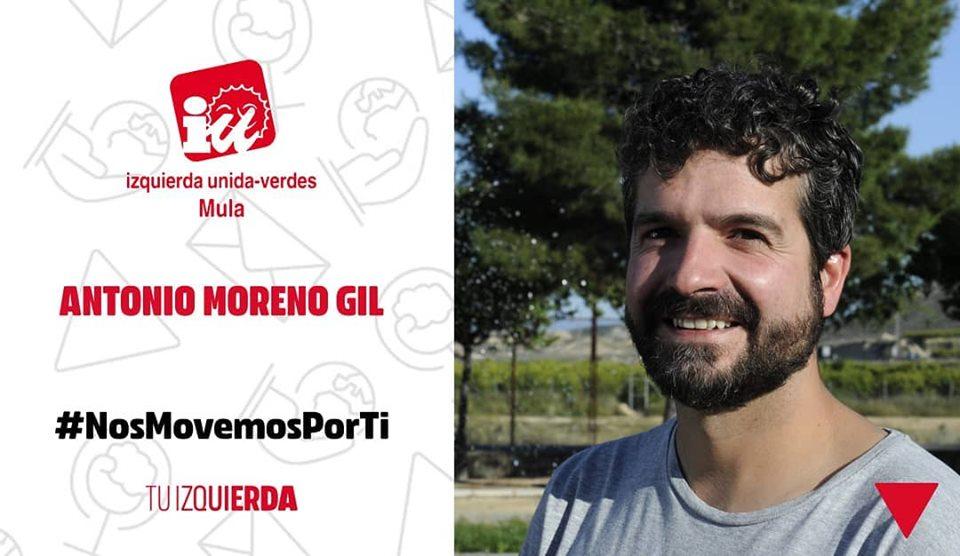 Antonio Moreno Gil ▶️ N°2 Candidatura IU-Verdes Mula ▶️ Diplomado en Gestión y Administración Pública y empleado en mantenimiento de carreteras ▶️