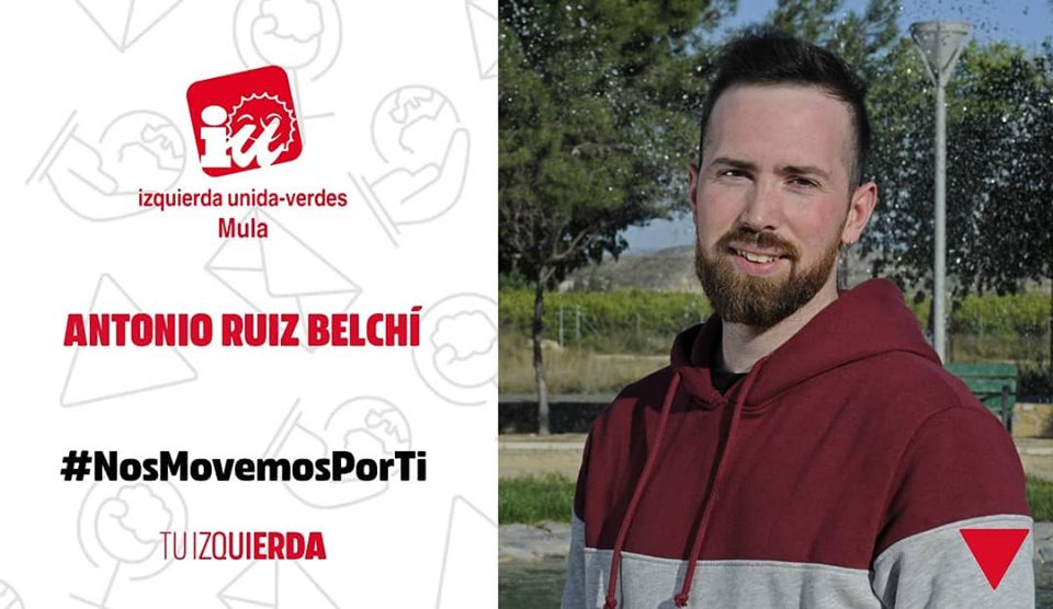 🔻Antonio Ruiz Belchí ▶️ N°11 Candidatura IU-Verdes Mula ▶️Trabajador de la industria cárnica
